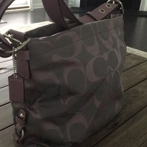 Gorgeous Purple Coach Hobo